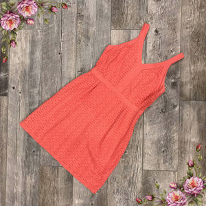 Coral midi old navy dress